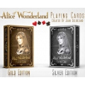 Alice of Wonderland Gold Silver Cartamundi playing cards - Alicia en el País de las Maravillas