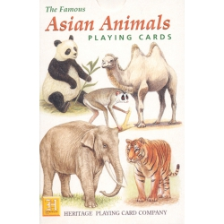 Animales de Asia - Asian Animals playing cards