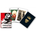 Beards and Moustaches Unshaven Piatnik playing cards - Baraja Barbas y Bigotes