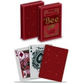 Bee MetalLuxe Red N.92 Diamond back deck playing cards USPCC