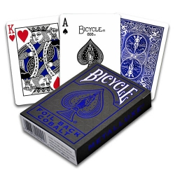 Bicycle Foil Back Cobalt MetalLuxe Blue playing cards