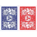 Bicycle League Back Red Blue deck playing cards - Poker Magia