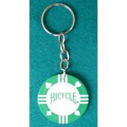 Llavero Ficha Bicycle verde