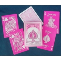 Pink Bicycle - Rosa playing cards