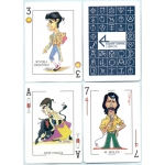 Caricaturas de Toreros - Caricatures of bullfighters playing cards