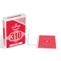 Copag 310 Face Off Red Slimline playing cards - Baraja Caras Blancas Rojo