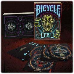 Eerie Purple Bicycle playing cards
