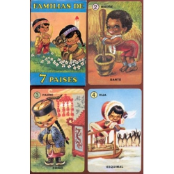 Familias 7 Países - Families from 7 countries playing cards