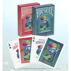 Mermaid Sirène Bicycle playing cards - Sirenas