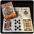 Pluma Orange Bicycle playing cards