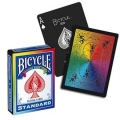 Rainbow V2 Black Bicycle playing cards