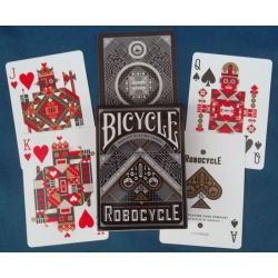 Robocycle Bicycle Negra - Black playing cards