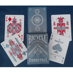 Robocycle Bicycle Plata playing cards