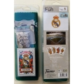 Conjunto Real Madrid: Baraja + Tapete + Amarracos - Producto Oficial