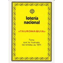 Lotería Nacional Tema: Tauromaquia poker español*